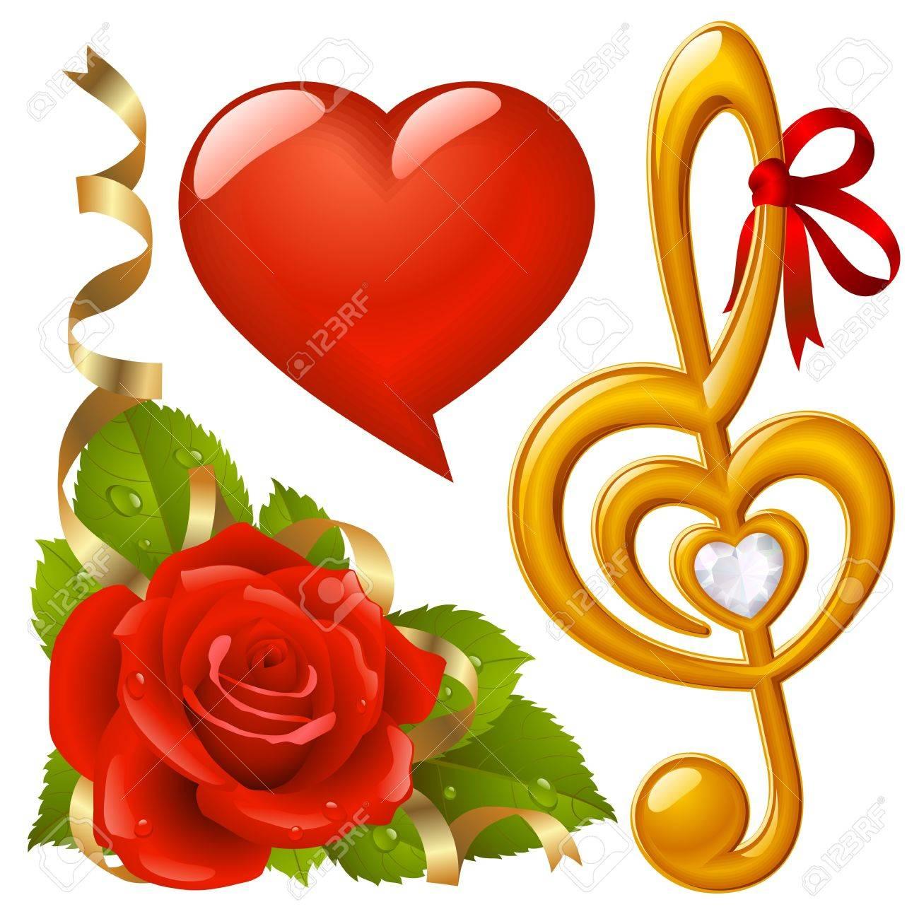 Valentines Day set 3 Stock Vector - 11961772