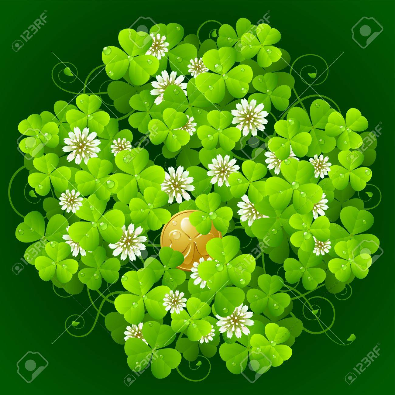 0caf6bda1071 Clover Glade In The Shape Of Quatrefoil Royalty Free Cliparts ...