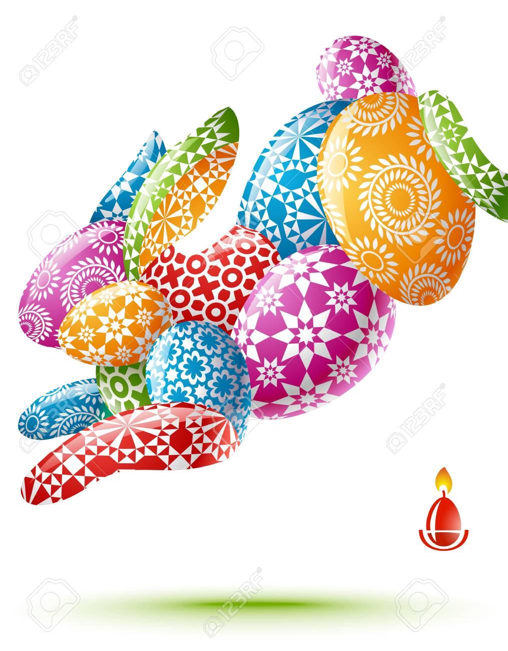 b25fd37fdea7 Easter rabbit Stock Vector - 12477221