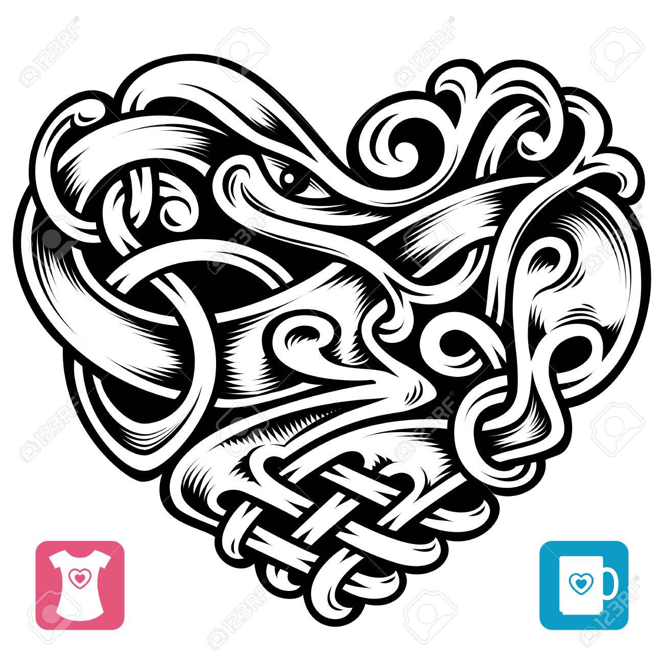 5568 celtic knot stock vector illustration and royalty free celtic vector celtic pattern in the shape of heart biocorpaavc Gallery