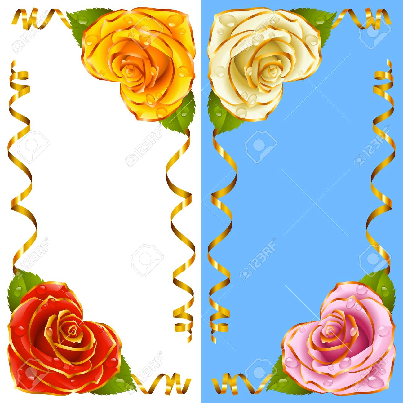 a1e59ce07b62 Corner Vignette Set From The Rose Heart And Swirl Ribbons. Red ...