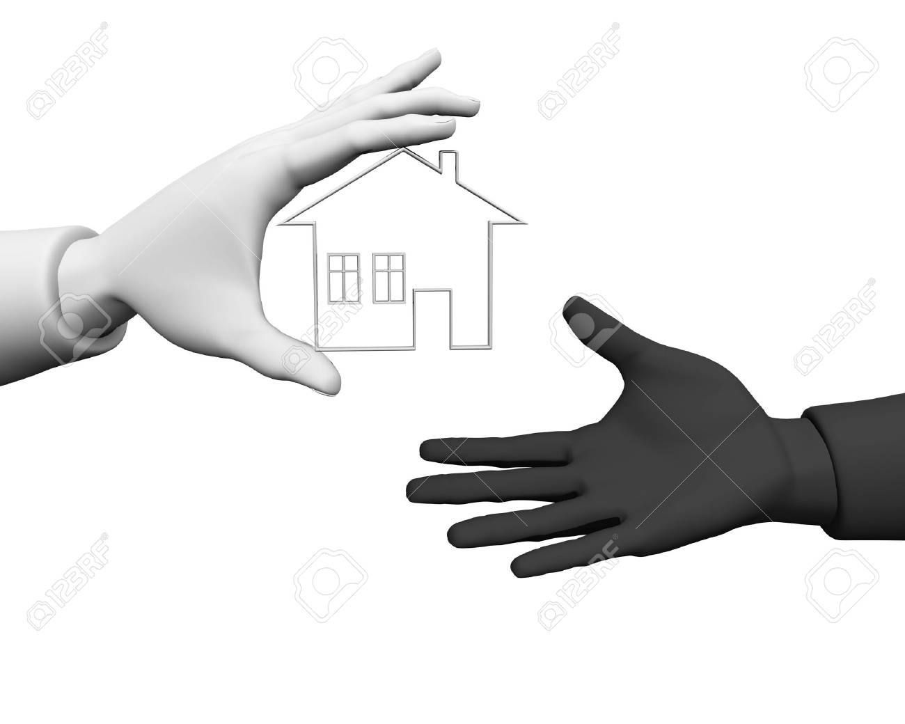 3d new house owner concept Stock Photo - 7736594