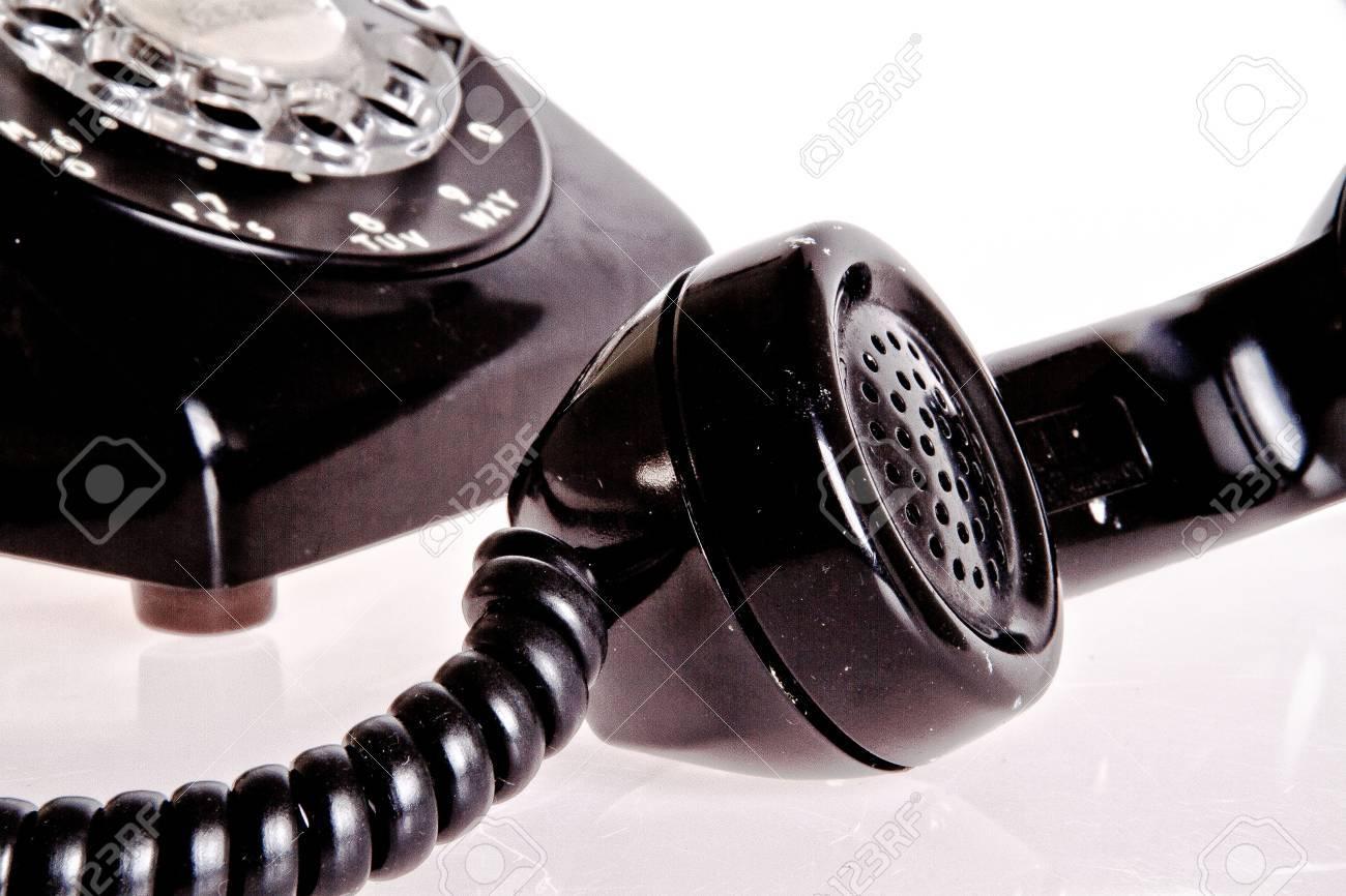 old fashion black phone Stock Photo - 12182682