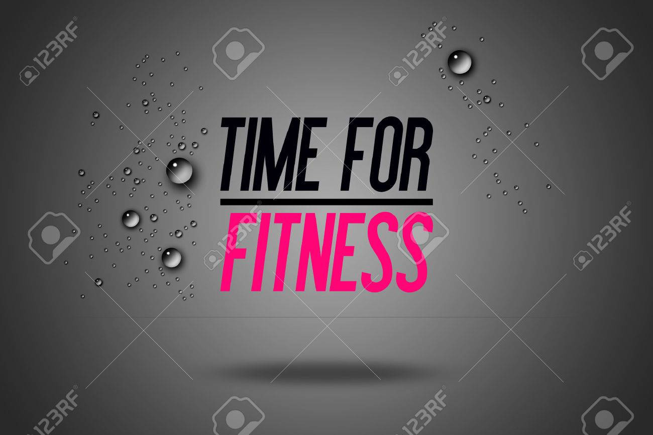 Stock illustration 3d red text quot yes quot stock illustration royalty - Time For Fitness Advertisement Quotes Workout Sports Motivation Fitness Center Motivational Quote