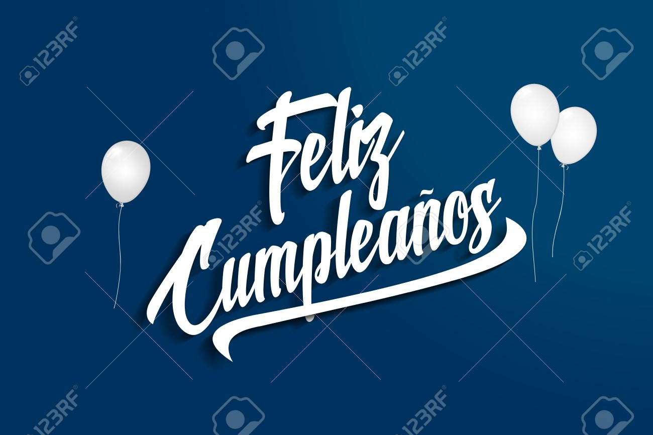 Feliz Cumpleanos Happy Birthday In Spanish Balloons