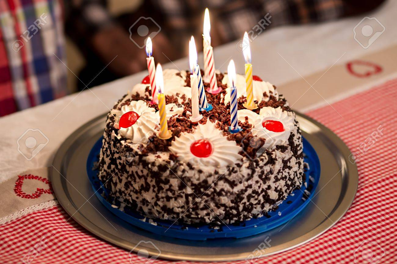 Excellent Birthday Cake On The Table Small Birthday Cake On Plate Sweet Funny Birthday Cards Online Elaedamsfinfo