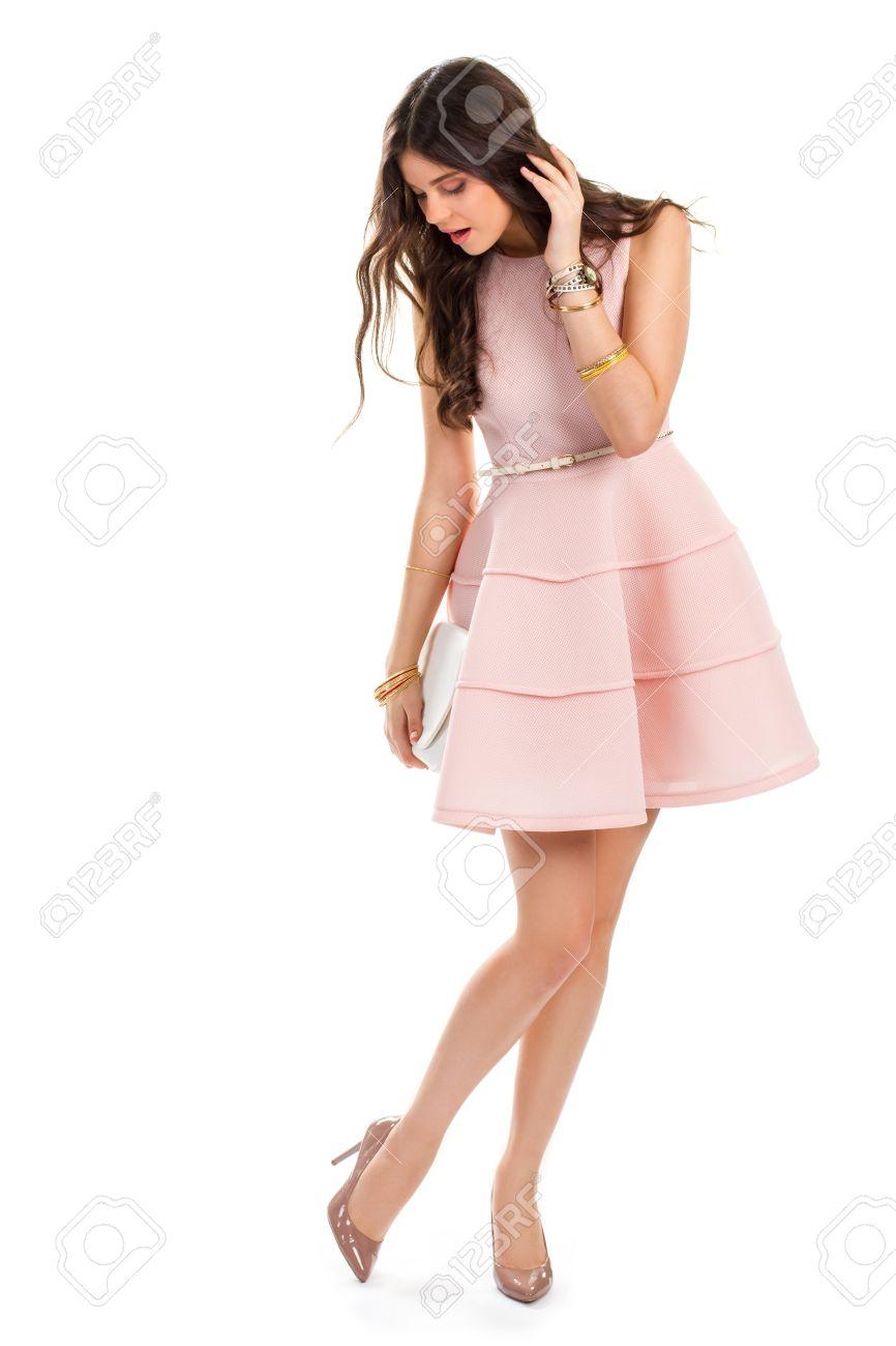 rosa kleid schuhe