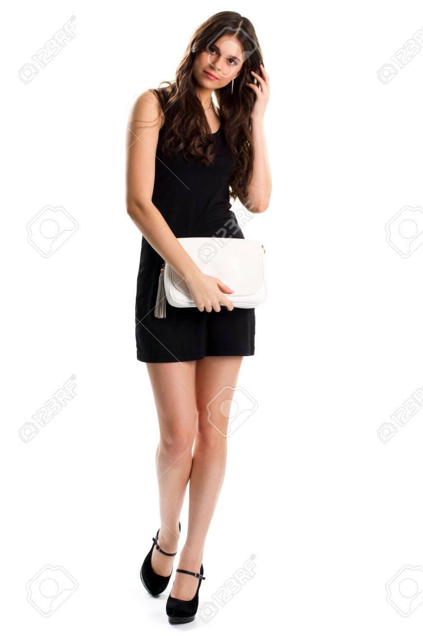 Zapatos para vestido negro con blanco corto