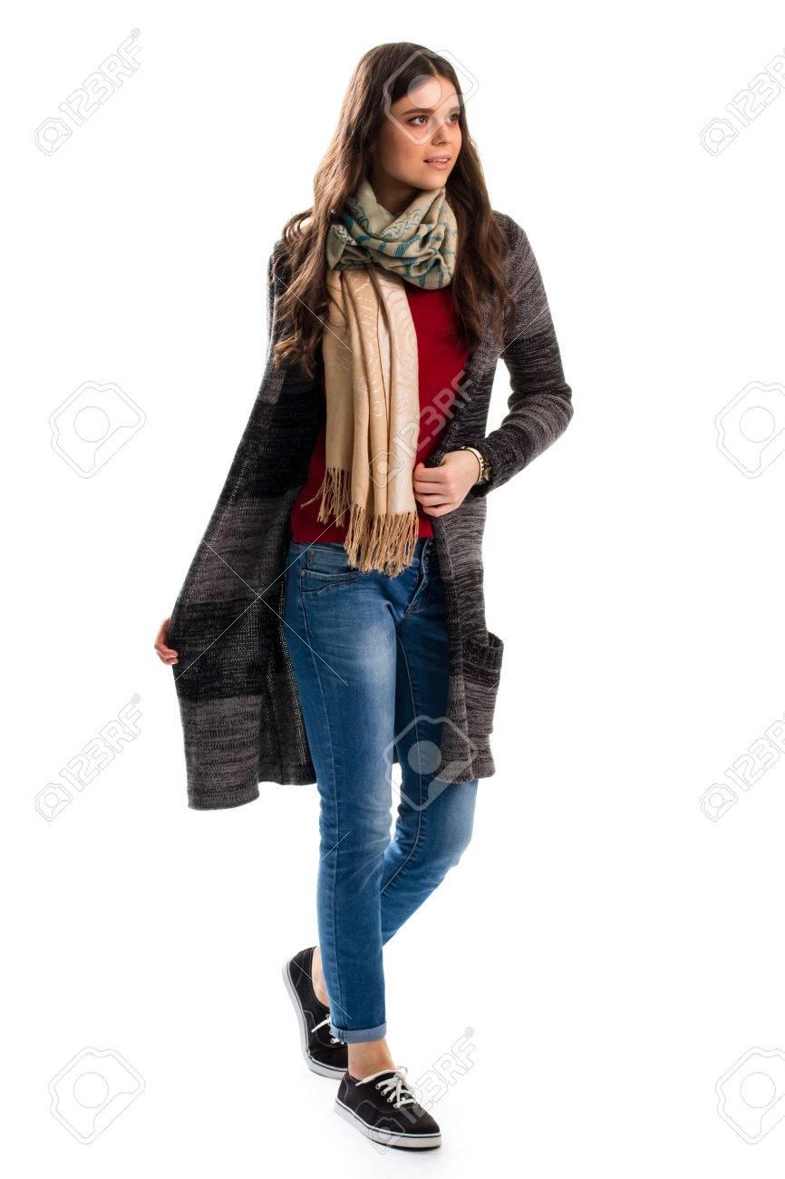 De Mujer Azules Oscuro Negros Jeans Y Suéter Abrigo En Zapatos rFqFvwE