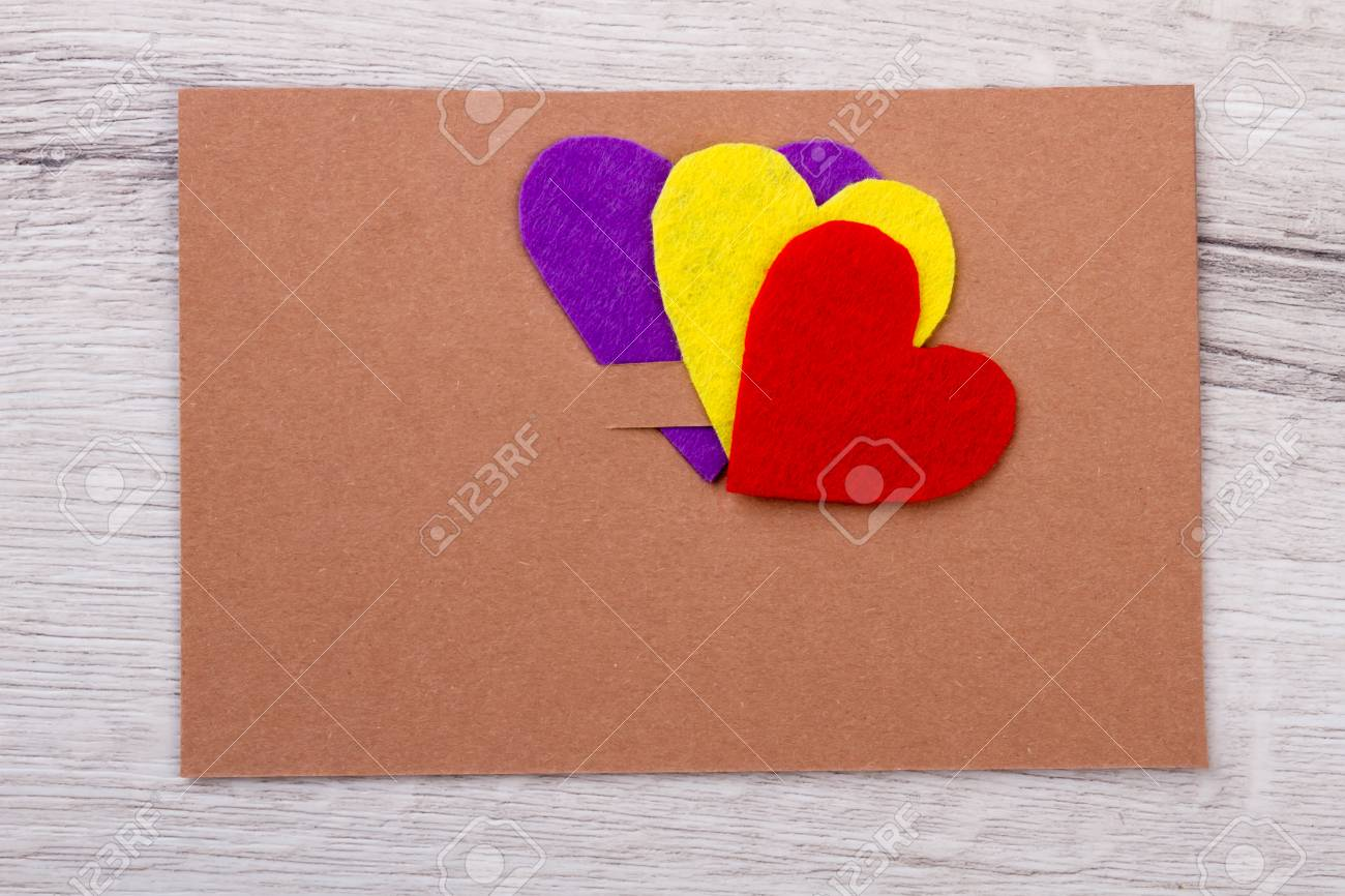 Mockup Of Greeting Card Hearts On Top Of Card Examples Of