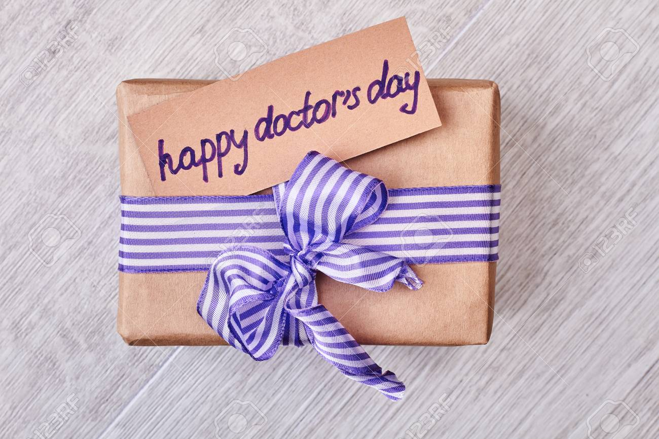 Happy Doctors Day Present Box Greeting Card And Bow