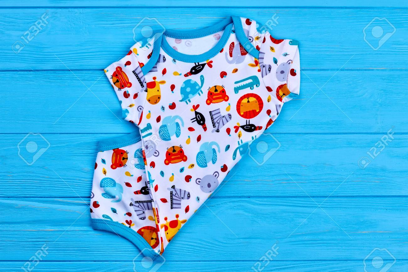 c77bcd5c65c Baby boy new organic bodysuit. Trendy summer romper for newborn on sale.  Stock Photo