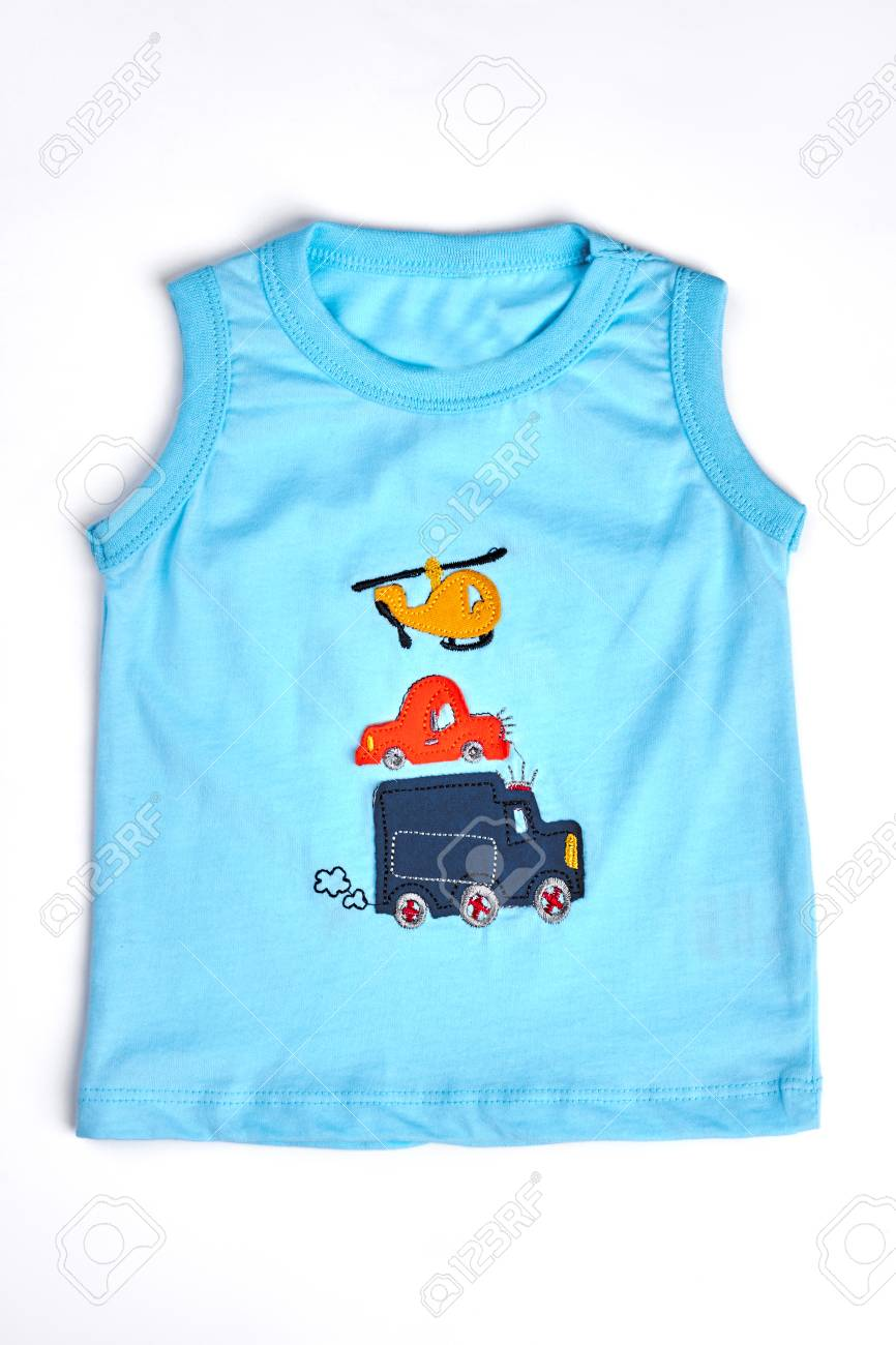 8fe8ce4fa Blue Cartoon T-shirt For Toddler Boy. Baby-boy Natural T-shirt ...