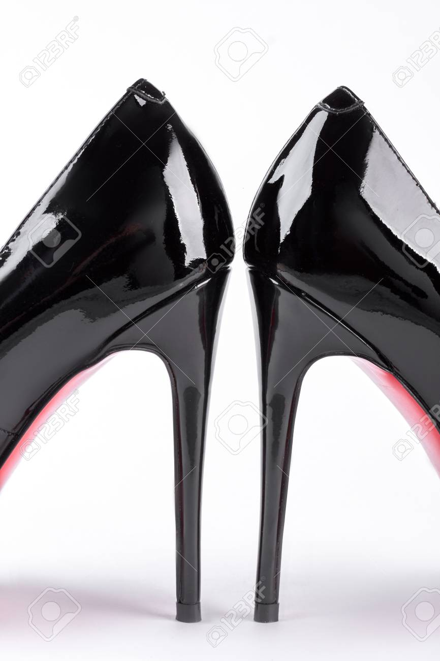 Pair Of Woman Leather High Heels