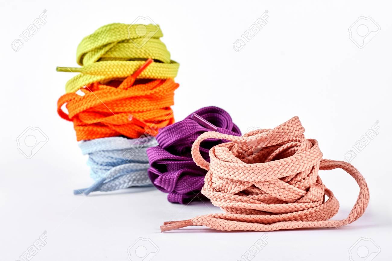 Multicolored Shoe Laces. Decoration