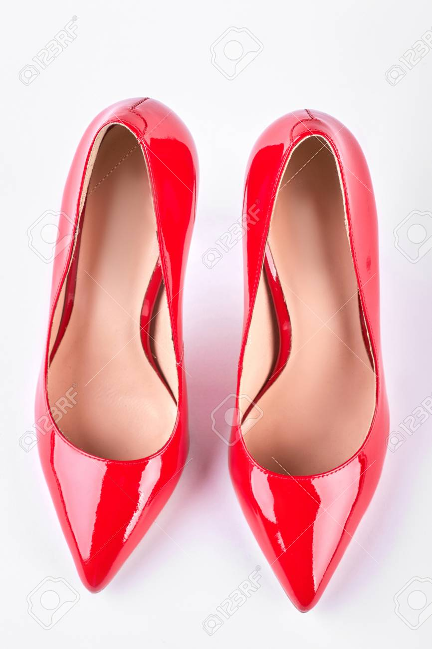 Woman Classic Red Shoes On High Heels