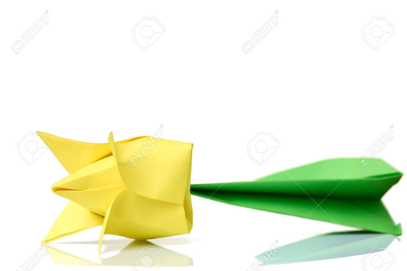 Origami Tulip and Stem Folding Instructions / Origami Instruction ...   866x1300