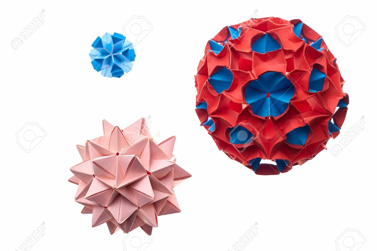 Captivating Origami Ball Crafts Complex Modular Paper Models Made By Professional Artist Japanese Art