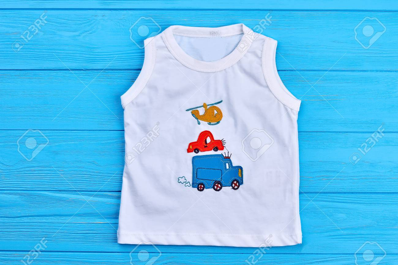 b46fdd480 Baby Boy White T-shirt Print Design. Toddler Boy Cotton T-shirt ...