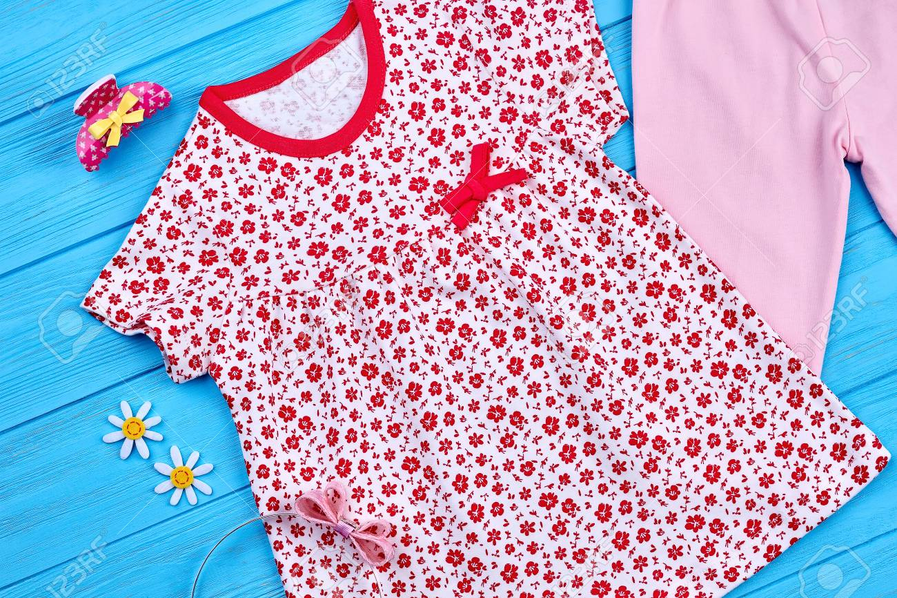 a3fb4fc5b Baby-girl Cotton Printed Dress. Toddler Girls Natural Summer.. Stock ...