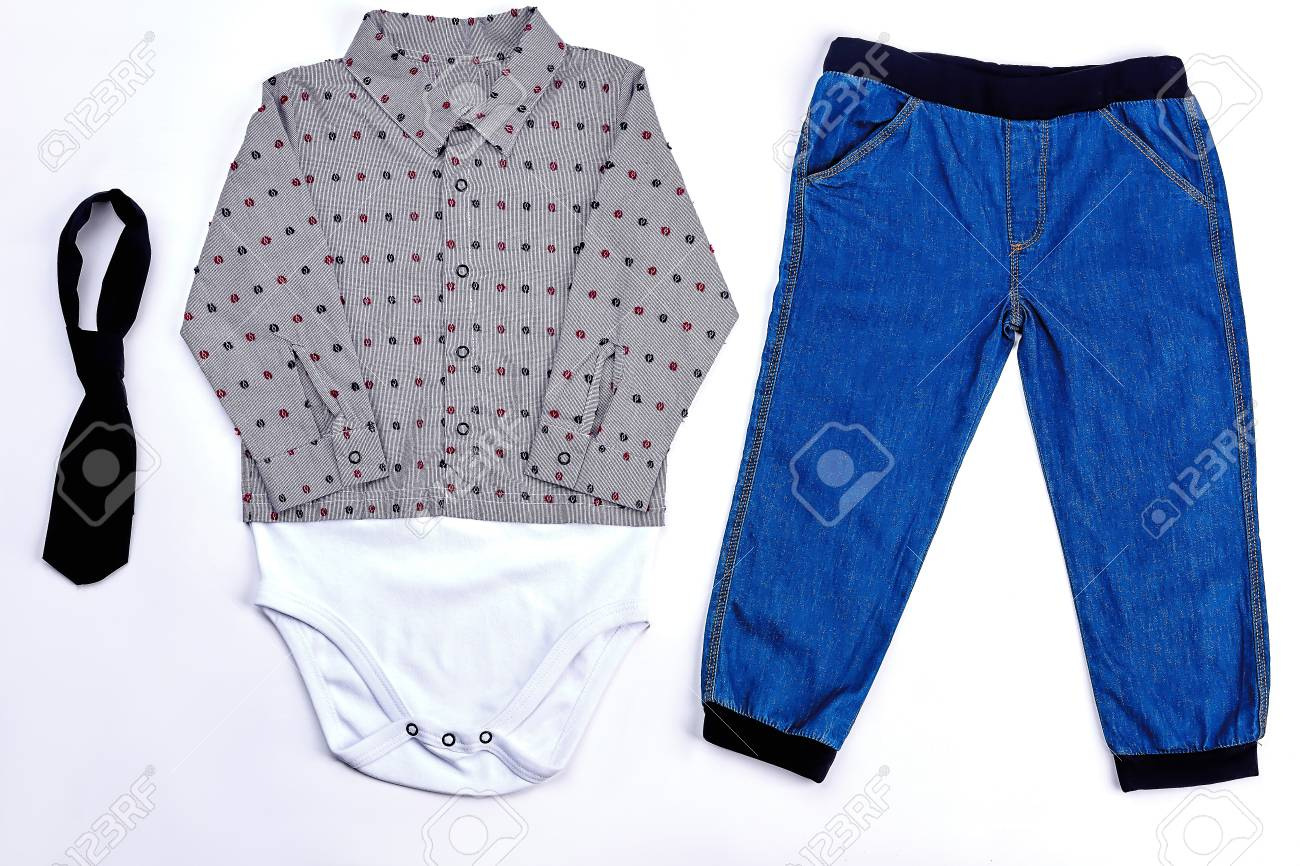 beb7fddba354 Set Of Modern Apparel For Baby-boy. Toddler Boy Fashion Dotted ...