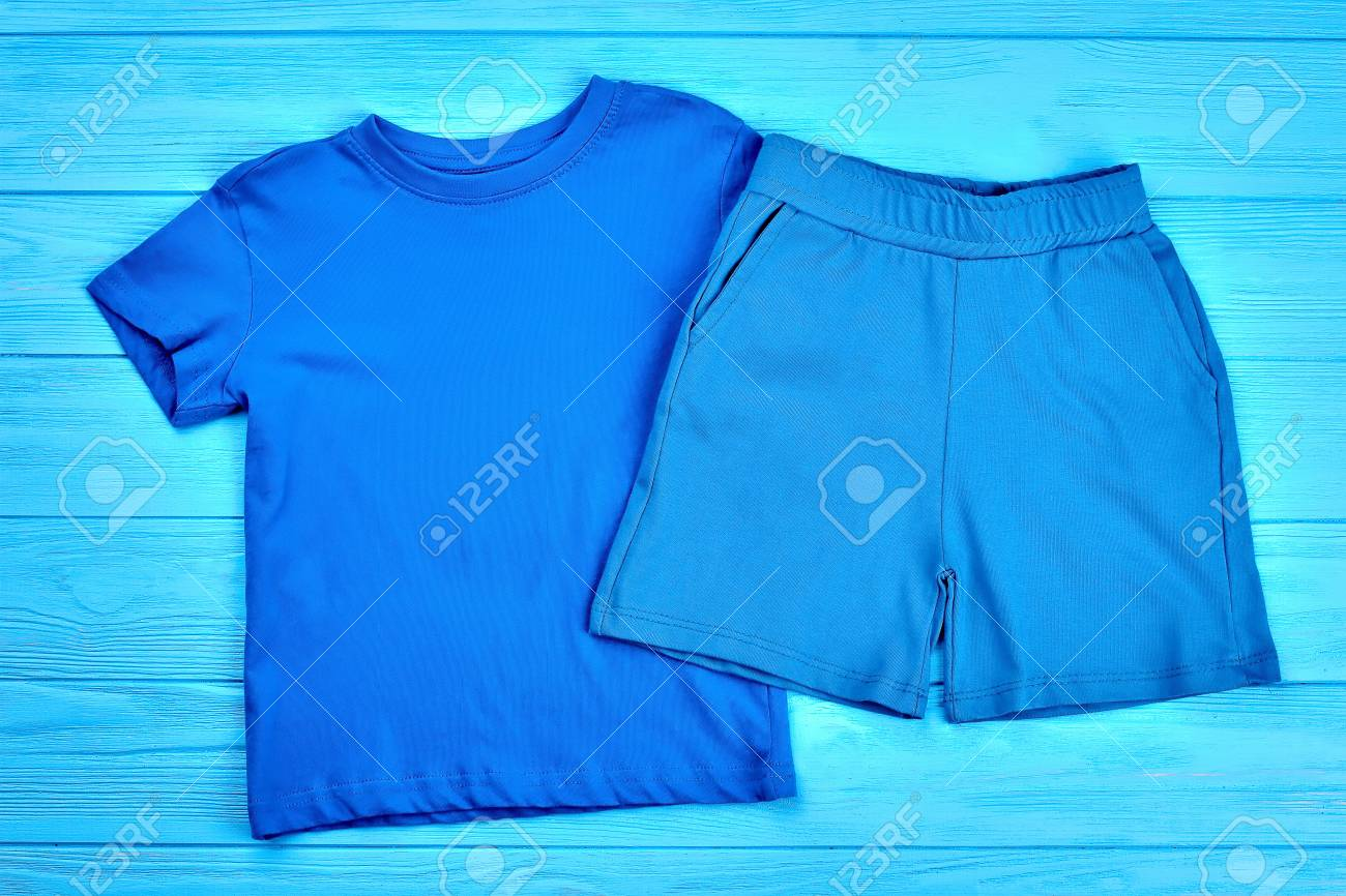 faa37285a Set Of Baby Boy Cotton Clothing. Natural Apparel For Toddler.. Stock ...