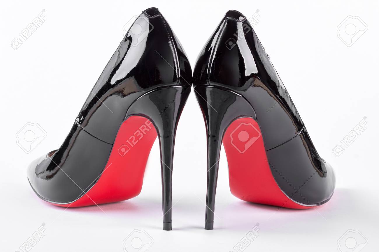 plus de photos a89d2 5888f Pair of new black stilettoes over white. Female new louboutin..