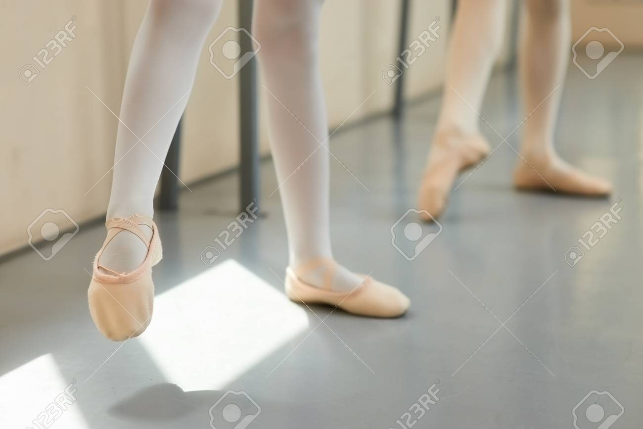Pink Ballet Shoes. Young Girl