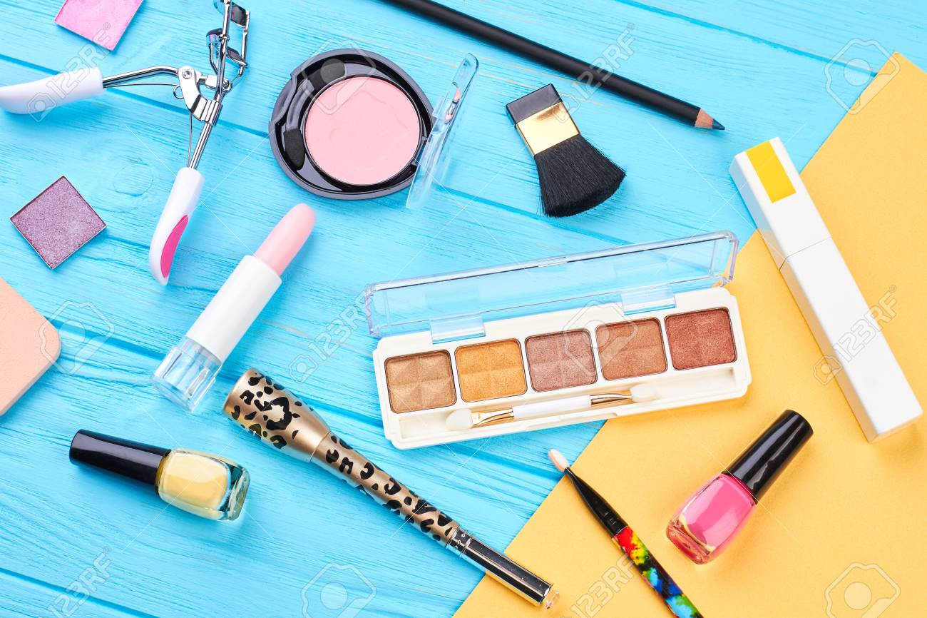 Woman Makeup Products And Accessories Fashion Makeup Essentials