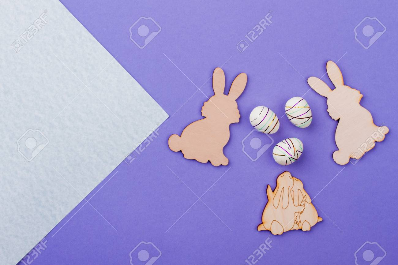 Easter Rabbits From Plywood Easter Bunnies Wooden Cutouts