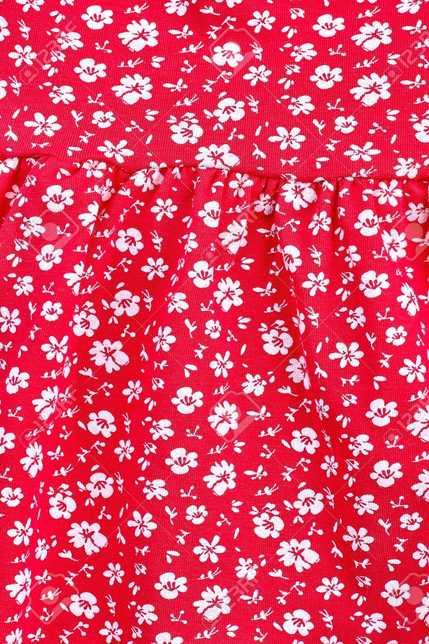 Cute Pattern In Small Flower Small White Flowers Red Background Stock Photo Picture And Royalty Free Image Image 103231207