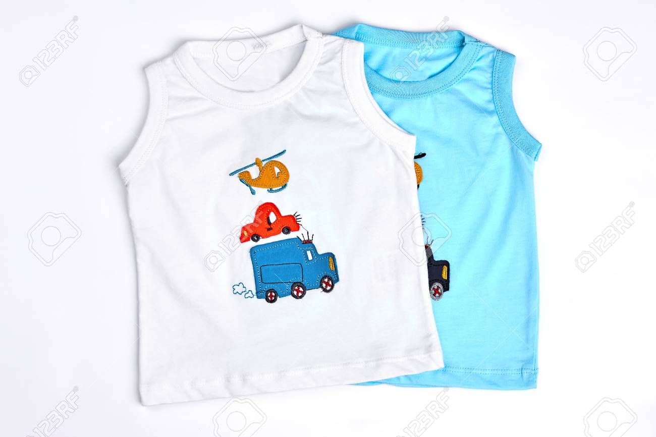 f43dfc331 Collection Of New T-shirts For Baby-boys. White And Blue Cartoon ...