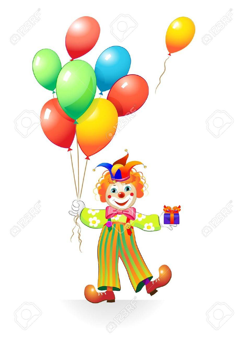 funny clown with ballons - 12304502