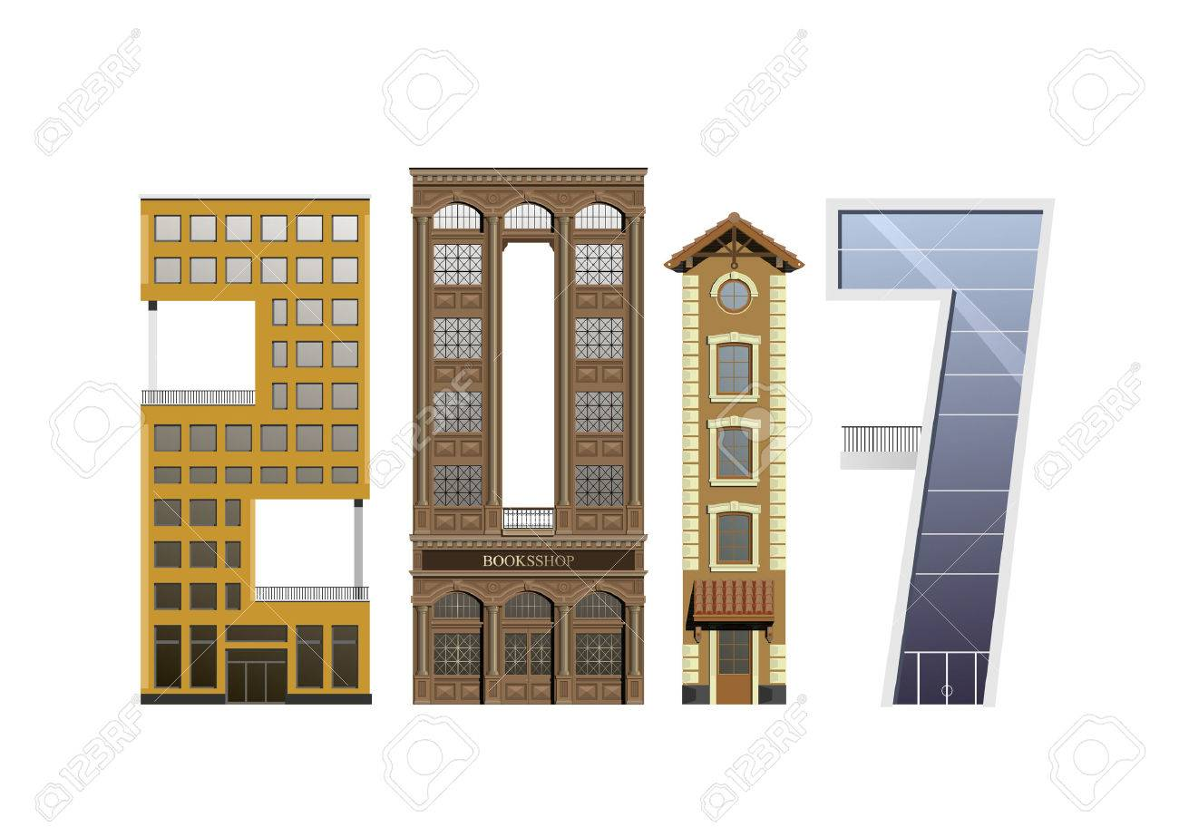 Group Of Different Buildings In Different rchitectural Styles ... - ^