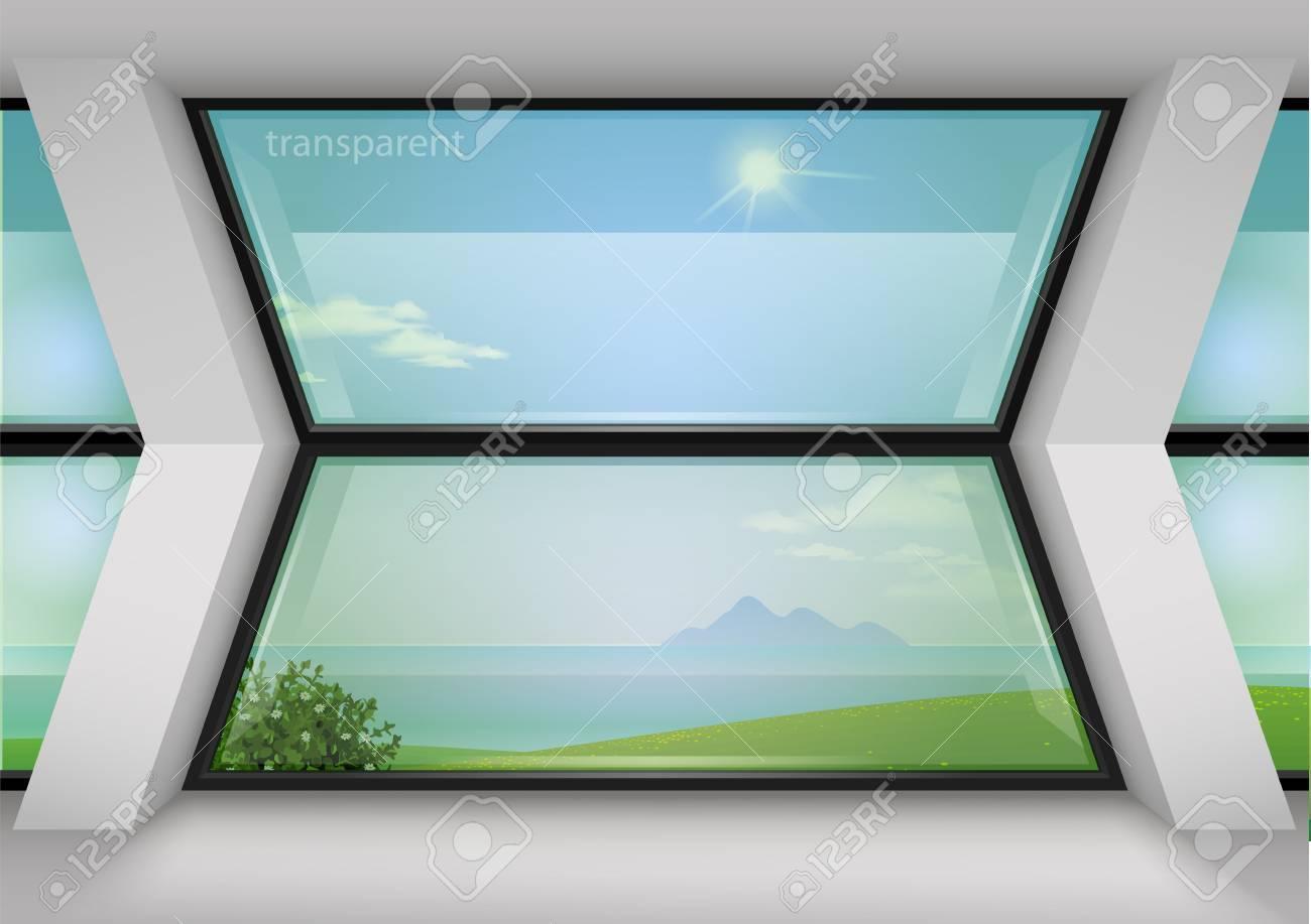 Zeitgenössisches Panoramafenster Trapezförmig Für Haus Oder Hotel ...