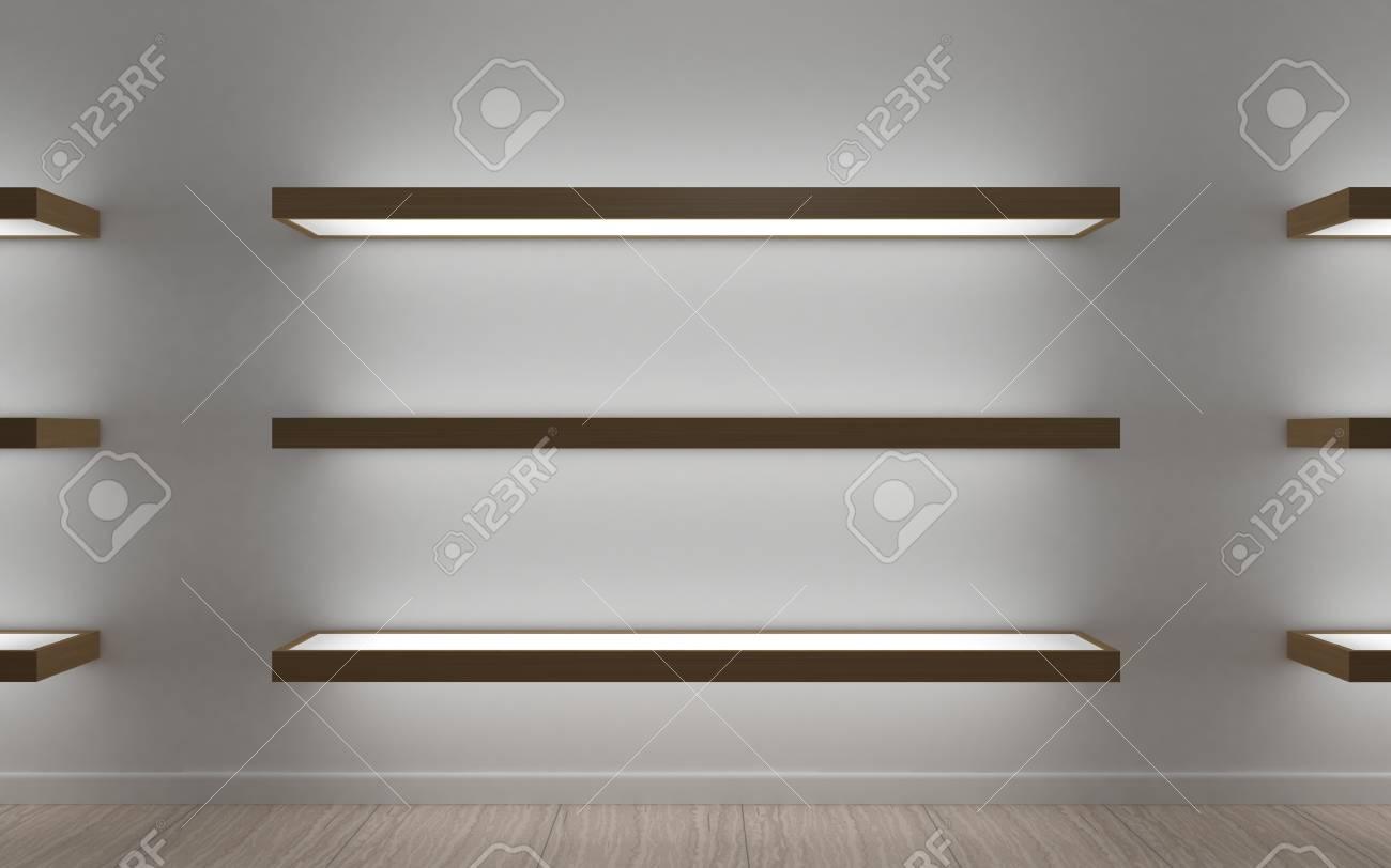 lighting for shelves. Modern Shelves For Store Goods , Boutique, Shopping Mall Showcase. Led Lighting H
