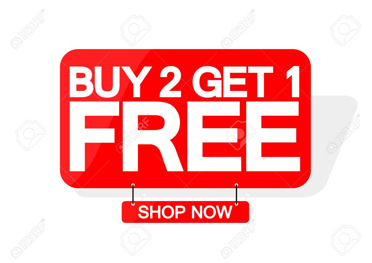 buy 2 and get 1 free
