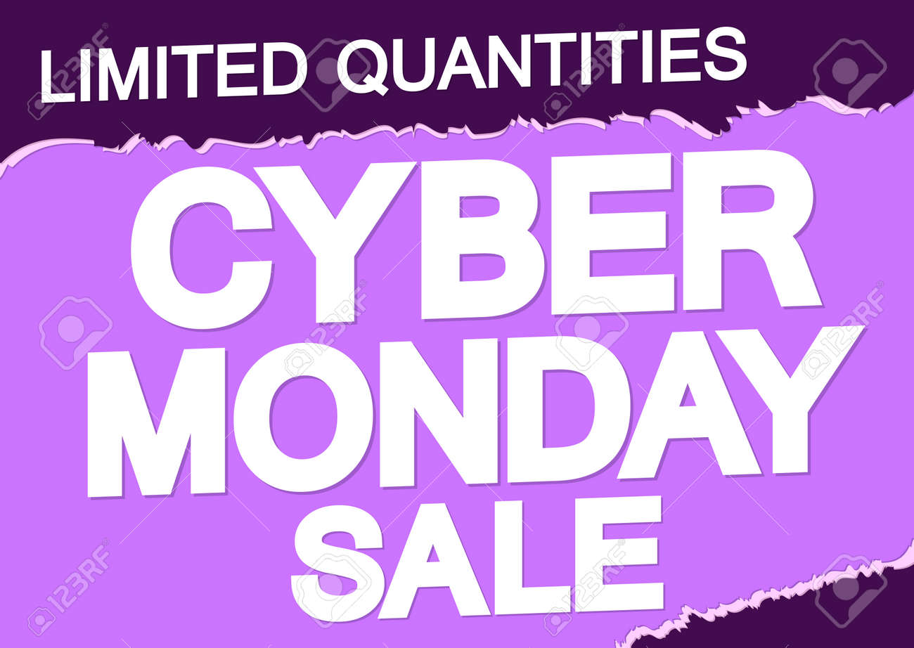 Cyber Monday, sale poster design template, special offer, vector illustration - 158249767