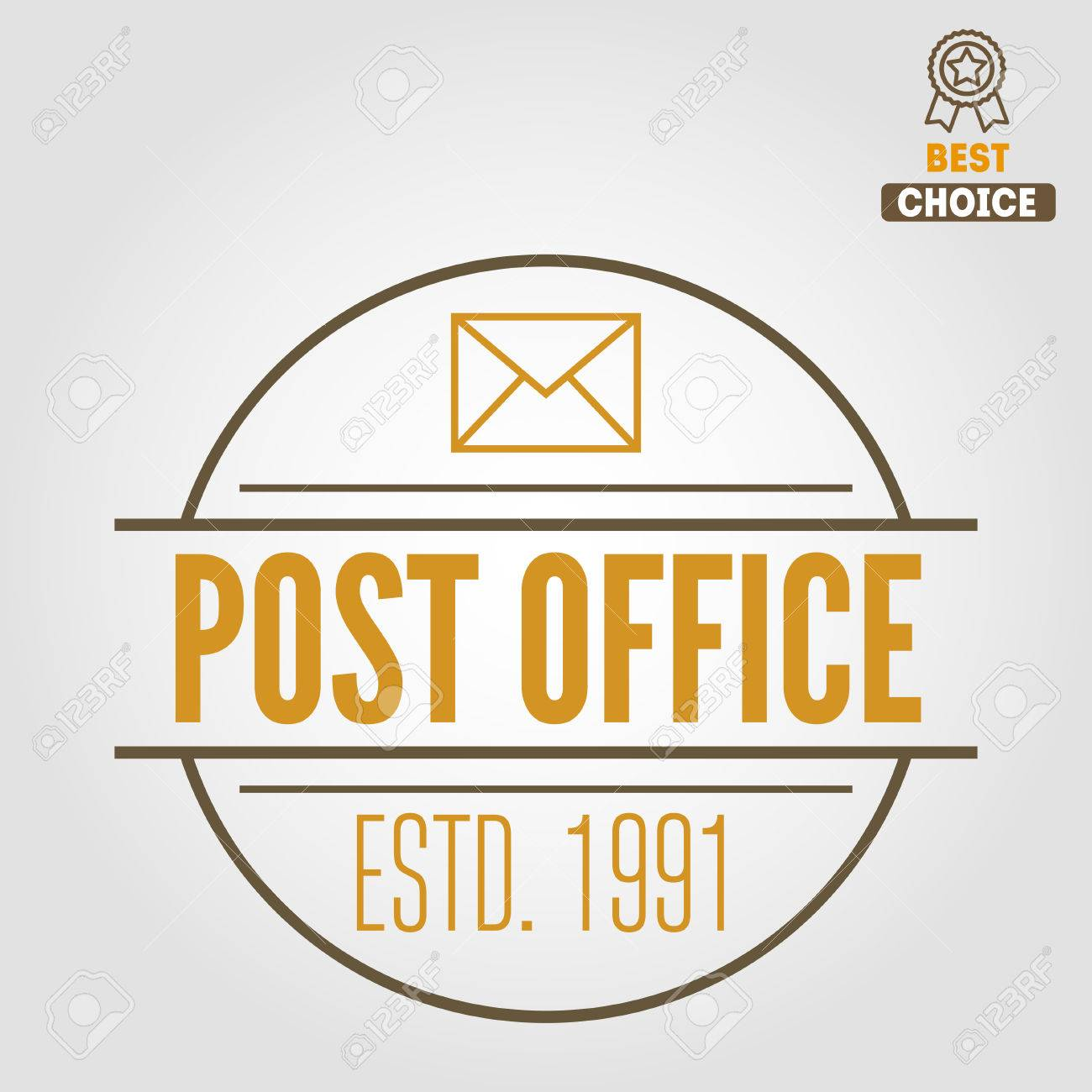 Logo Ou Logotype éléments Vintage Pour Le Bureau De Poste Ou Un