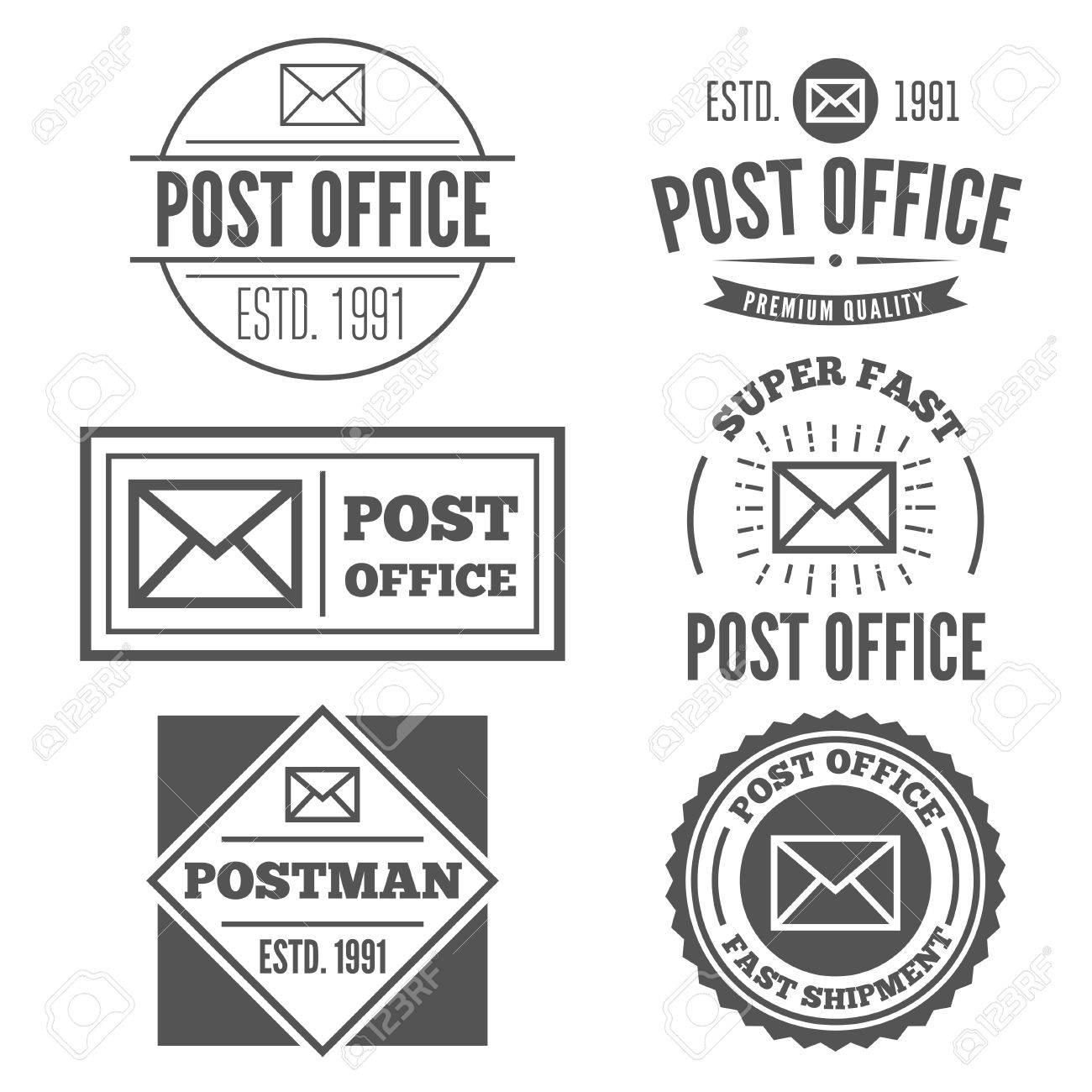 Ensemble Déléments De Logo Ou Logotype Vintage Pour Un Bureau De