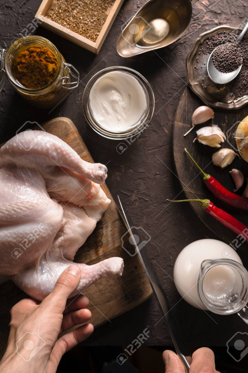 Ingredients for cooking chicken curry on the table closeup indian ingredients for cooking chicken curry on the table closeup indian food stock photo 98421927 forumfinder Image collections
