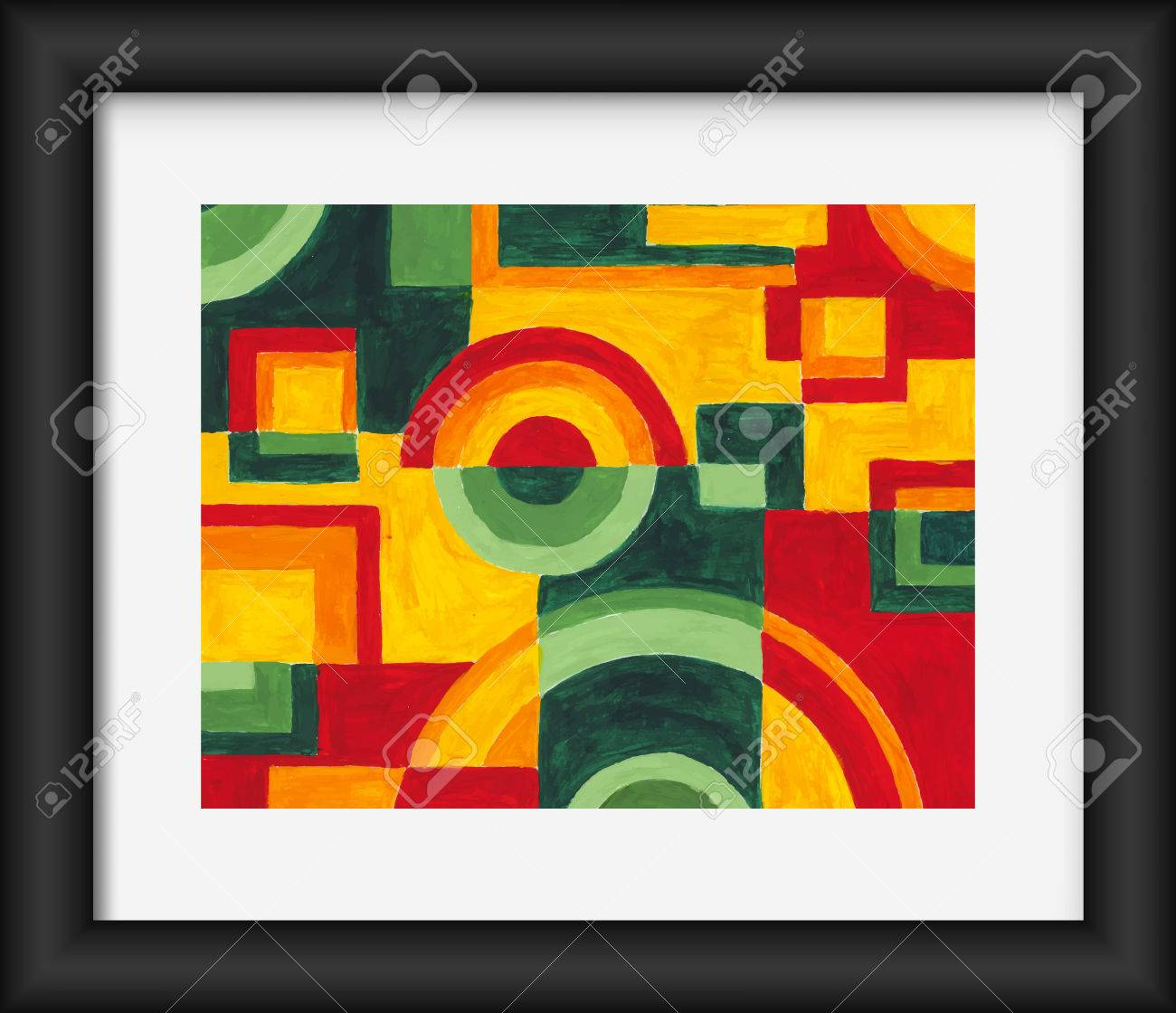 Circles And Squares Abstract Art Painting