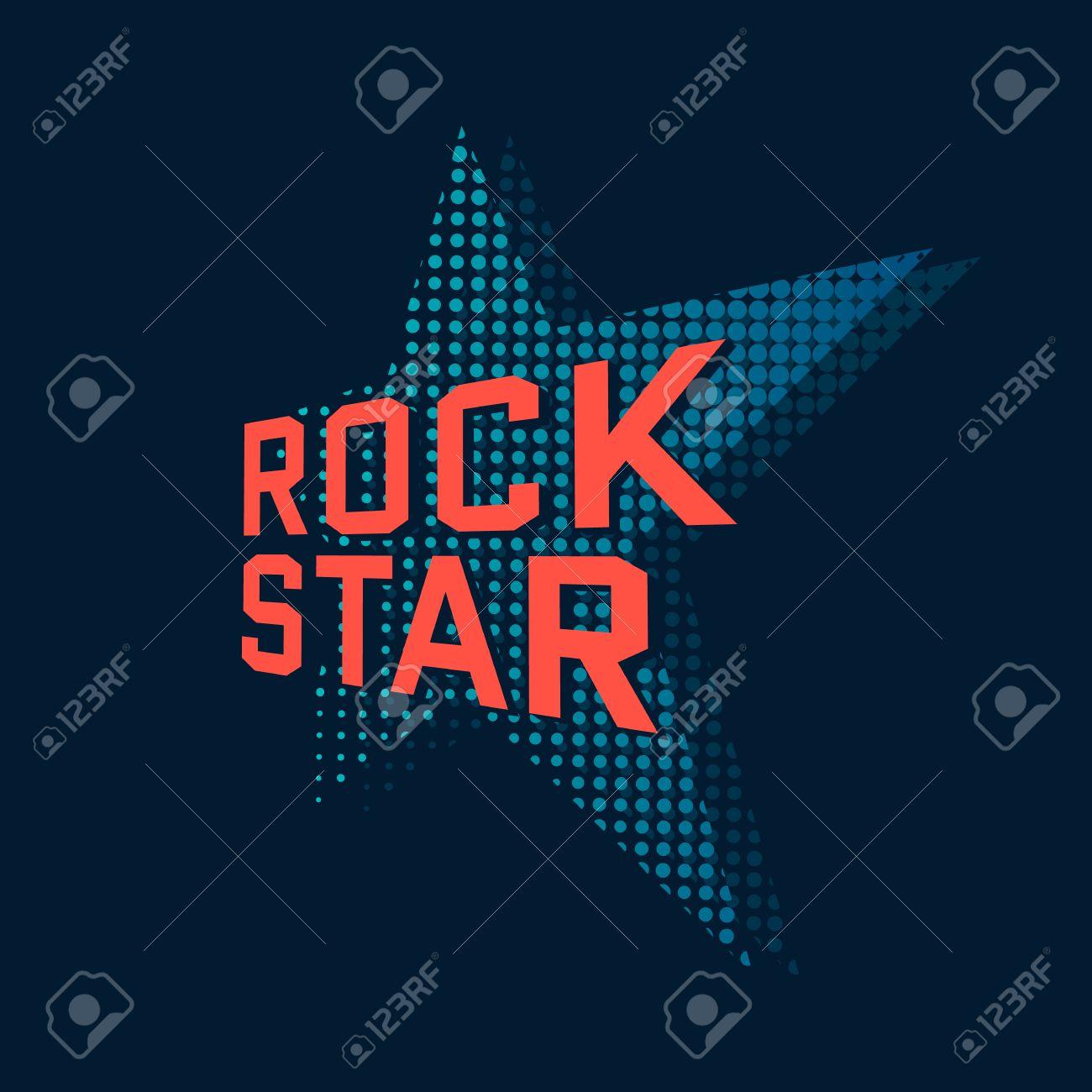 Rock Star Music Typography T Shirt Design Vector Illustration