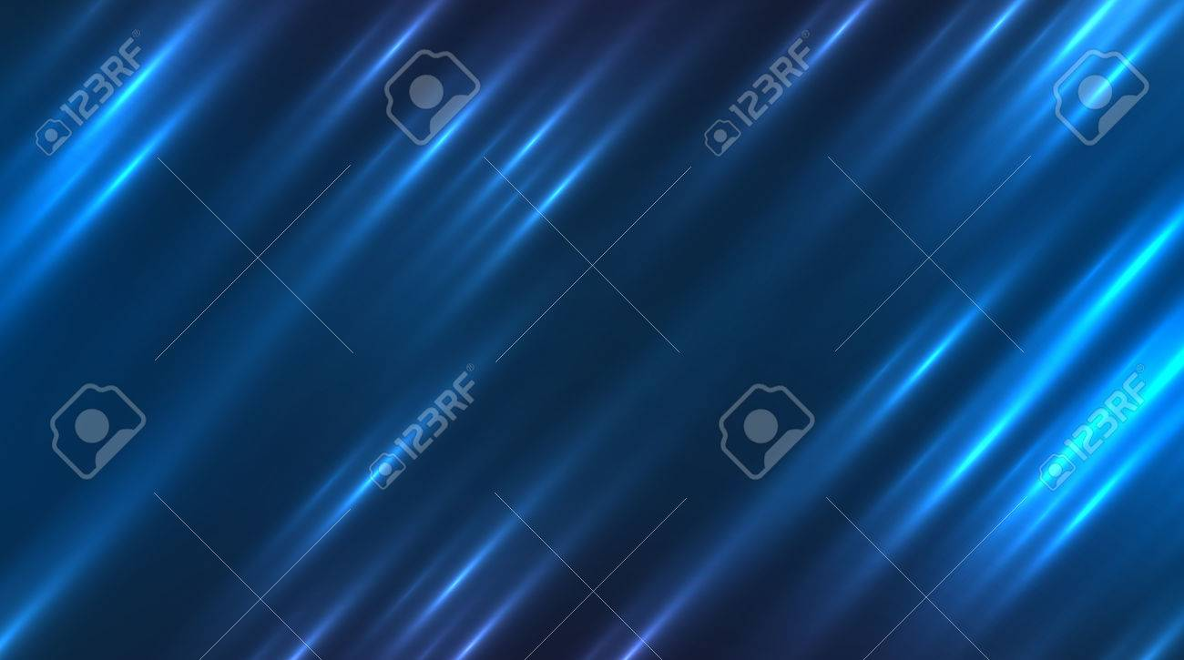 Vector futuristic abstract background. Blue motion light lines - 46370121