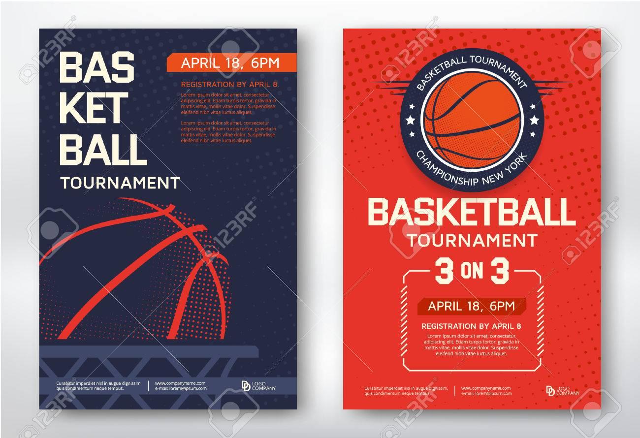 Basketball tournament modern sports posters design. Vector illustration. - 51330180