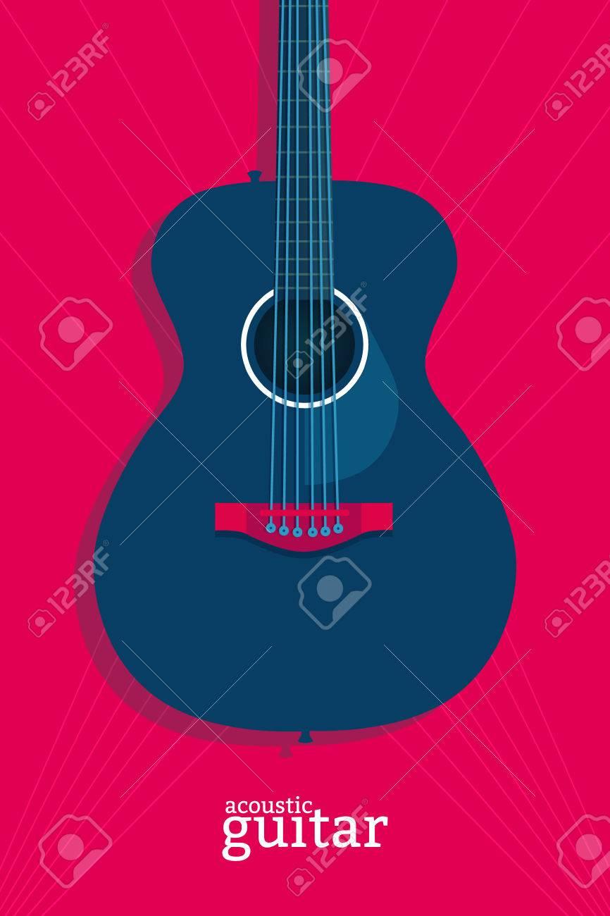Plantilla De Diseño De Cartel De La Música En Directo. Ilustración ...