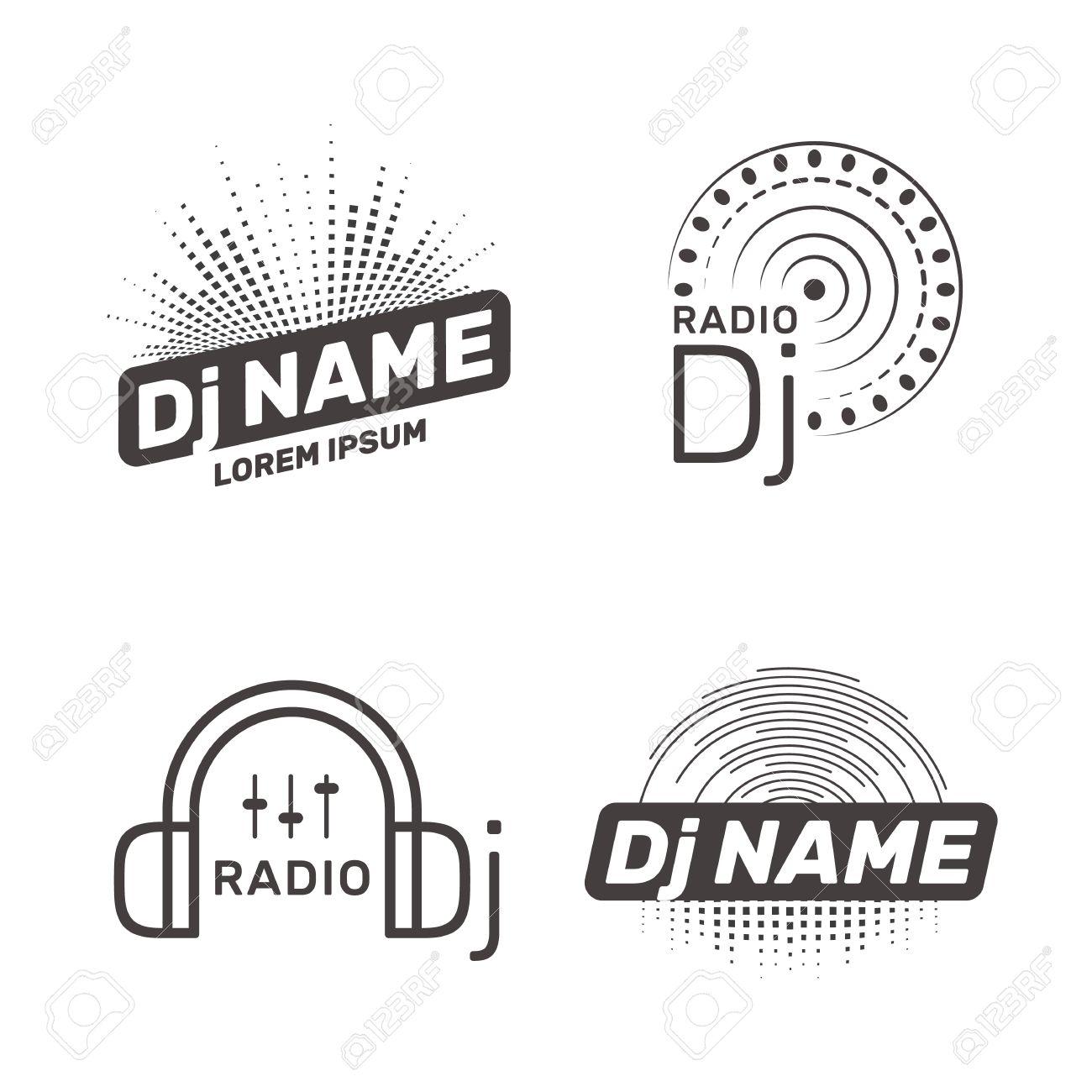DJ vector label - 73382220