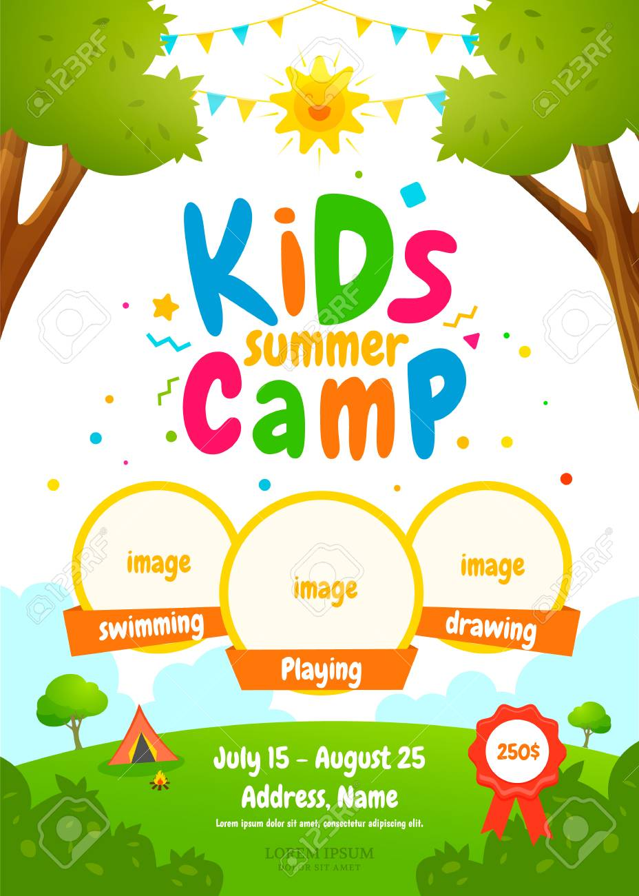 Kids summer camp poster - 123992528