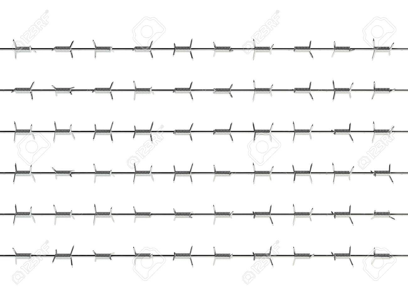 3d render of barbed wire on white backbround Stock Photo - 7553897