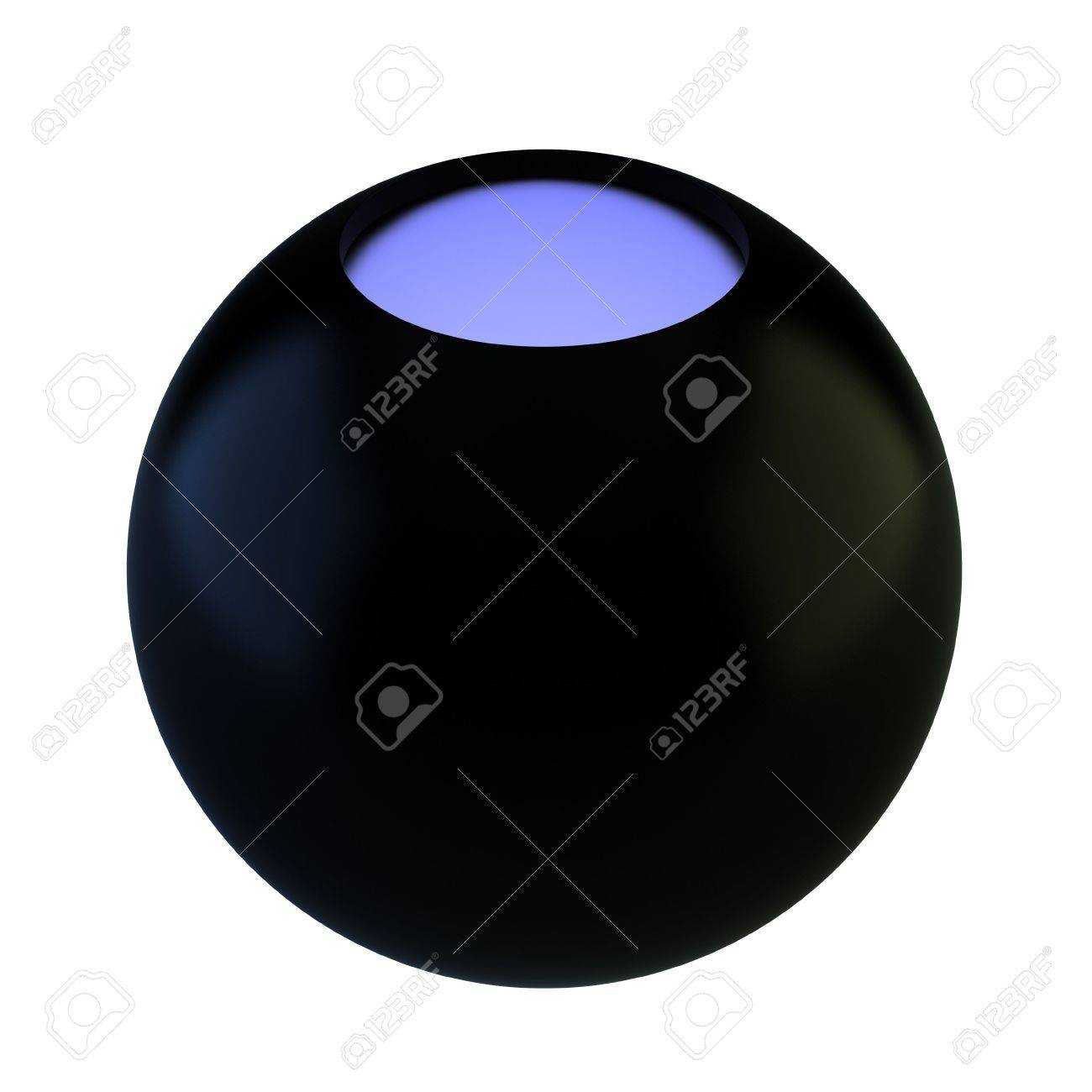 Render of magic 8 ball on white background Stock Photo - 7696534